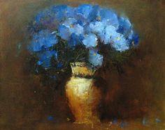 Blue flower painting Dmitriy Yermolov