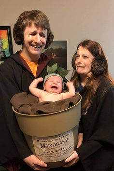 If You Don't Want to Fist Bump These Parents For Dressing Their Baby as a Mandrake, You're No Harry Potter Fan