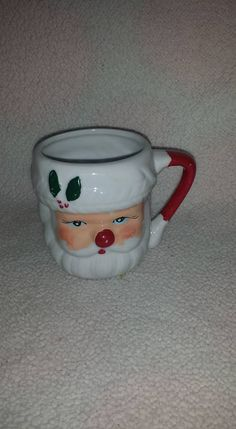 Vintage 1940s Santa Mug,Blue Eyed Santa Mug,Shabby, Chippy, Red Nose Santa, Santa Cup,Santa Claus Mug, Santa, Santa Claus, Collectible Santa by JunkYardBlonde on Etsy