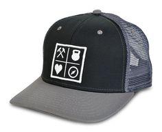 Grid Black Mesh Hat