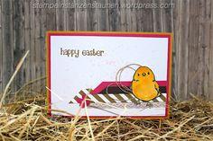 Stempeln Stanzen, Staunen, Osterkarte, Easter Card handmade with Stampin' Up!, SU, Berlin, Bastelbazzzille, SAB, Sale a Bration, SAB, so süß, Honeycomb, Easter lamb, Osterlamm