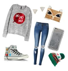 """""""Winteroutfit 2"""" by laurozic on Polyvore featuring Mode, H&M, WithChic, Converse, Betsey Johnson, Collection XIIX, Agent 18 und Adina Reyter"""