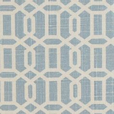 Blue Ice chain linked print by Duralee Fabrics