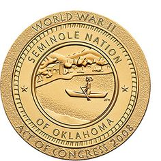 Seminole Nation Code Talkers Bronze Medal