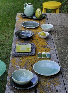 aus der Serie Tourron von Jars Keramik die Farbe Jade - türkis & maguelone emeraude - Collection Jars Céramistes | u0026 ??/??/?? ...