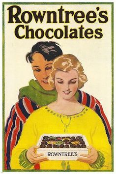 Rowntree's Chocolates Vintage Ad Poster 24X36 GREAT FOR HOME DECOR