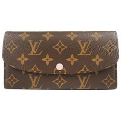 LOUIS VUITTON Monogram Portefeuille Emily Rose Ballerine M61289 Used F/S