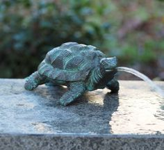 Lille skildpadde Small Turtles, Steinmetz, Modern, Animals, Messing, Products, Material, Water Fountains, Bronze Sculpture