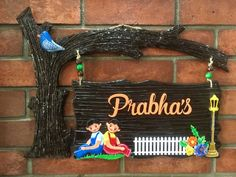 Wooden Name Plates, Door Name Plates, Name Plates For Home, Personalized Name Plates, Wooden Names, Wooden Art, Name Plate Maker, Name Plate Design, Mural Art