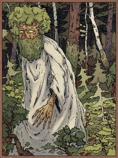"""""""Leshy, in Slavic mythology, the forest spirit. The leshy is a sportive spirit who enjoys playing tricks on people, though when angered he can be treacherous."""""""