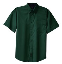 Port Authority Mens Easy Care Blend Short Sleeve Button Down Shirt S508