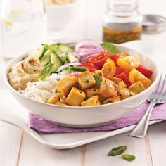 Grilled Tempeh with Coconut Milk Carrot Salad Poke Bowl, Healthy Snacks, Healthy Recipes, Carrot Salad, One Pot Pasta, Tempeh, Cream Recipes, Cooking Recipes, Honey