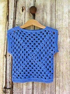 Simplest shirt to make - 2 large granny squares.