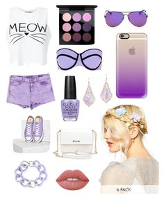 """""""bella's """"purple"""""""" by anabellastyles on Polyvore featuring MAC Cosmetics, River Island, Casetify, Miss Selfridge, Vigoss, Converse, OPI, ASOS, Lime Crime and Maiko Nagayama"""