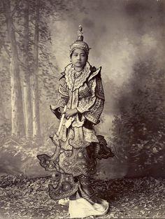 Burmese Princess, Felice Beato 1890