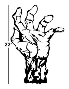 22 Zombie Hand Decal sticker wall art car auto by DaVinciDecals
