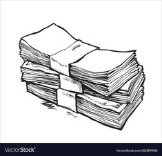 Stack of money vector image on VectorStock Money Bag Tattoo, Drawing Bag, Make Money Today, Money Stacks, Graffiti Lettering, Anime Poses, Tattoo Designs, Tattoo Ideas, Aesthetic Iphone Wallpaper
