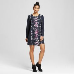Women's Placed-print Shift Dress