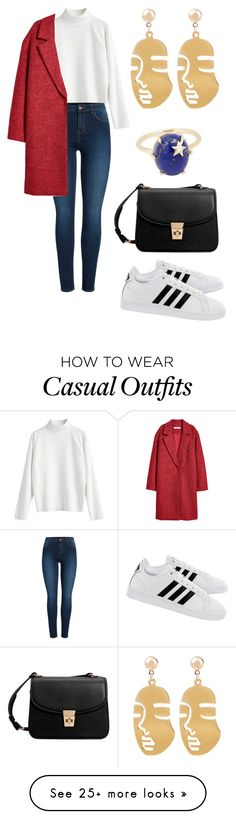 """""""Casual"""" by caitlinbc on Polyvore featuring MANGO, adidas and Pieces"""