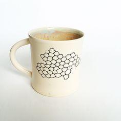 Honeycomb Mug by CeramicsbyLinaLaV on Etsy https://www.etsy.com/listing/271619120/honeycomb-mug