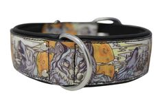 The Paws Mahal - Jessica Fang Wolf's Den Inked Leather Dog Collar, $65.99 (http://www.thepawsmahal.com/jessica-fang-wolfs-den-inked-leather-dog-collar/)