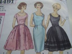 I have this one!  Vintage 1950's, 60's Simplicity 4491 Dress Sewing Pattern, Size 11, Bust 31 1/2
