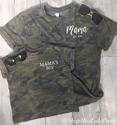 Mom And Son Outfits, Family Outfits, Baby Boy Outfits, Camo Shirts, Vinyl Shirts, Boys Shirts, Mommy And Me Shirt, Mommy And Son, Mom Of Boys Shirt