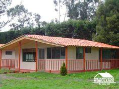 Casas prefabricadas un nivel Beautiful House Plans, Beautiful Homes, Outdoor Toilet, Cali, Barn House Plans, Cabana, Tiny House, Pergola, Waterfall