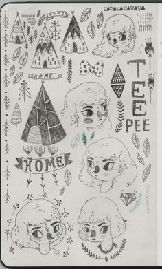 sketchbook teepees
