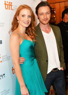 """2 of my fave actors: Jessica Chastain and James McAvoy at the Toronto International Film Festival premiere of """"The Disappearance of Eleanor Rigby: Him and Her"""""""