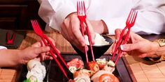 These actually look kind of cool, it's called the Chork...chopstick/fork :)