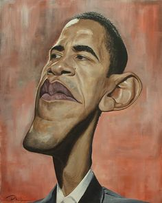 Barack Obama #Caricature #FunnyFaces