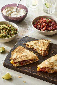 Fabulous Fajita Quesadillas - These gluten-free, dairy-free, vegan fajita quesadillas using homemade bean cheeze are super delicious.