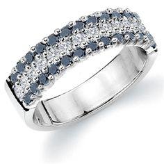 Black Diamonds and Round Cut Diamonds are a Beautiful Combination. www.eternityweddingbands.com