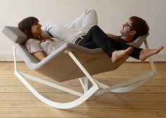 Sway Chair so you can relax and always be facing your lover! Genius!!