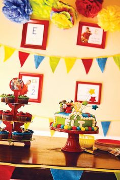 Colorful DIY Sesame Street Birthday Party