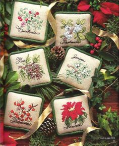 I have the cross stitch magazine that these were in......I did the juniper one....lovely....will have to look up the rest....