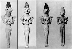 Sumerian statues depicting the Anunnaki in their reptilian form. Very rare statues.