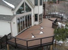 Trex decks can withstand all types of weather, making it the perfect decking option – especially for areas with cold climates and lots of snow. See more benefits of Trex decking: http://www.trex.com/why-trex/.
