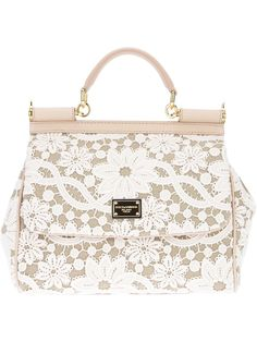 Dolce & Gabanna white & cream lace purse.