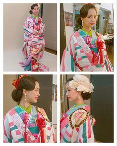 レトロウエーブスタイル♡♡ 新作の @thesweetcloset の和装も色合わせが素敵♡ #rumi_ヘアアレンジ