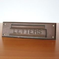 Letters Door Slot, $62, now featured on Fab.