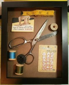 Great Grandmothers sewing shadow box on Craftster
