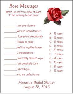 Cantidad de mensajes Rosa personalizado nupcial ducha juego cada 24 de 1 es para 24 tarjetas  Cada tarjeta mide 5-1/2 x 4-1/4  Impreso en papel de