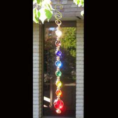 outdoor hanging glass chakra-beautiful