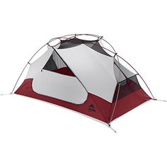 MSR Elixir 2 Backpacking Tent, Red. Minimum weight is just 2.10 kg (4 lb. 10 oz.), or set up in Fast & Light mode for 1.61 kg (3 lb. 9 oz.). Unique pole geometry optimizes headroom and fits two mats; adaptable rainfly allows for excellent views. Two large StayDry doors and two vestibules with optimized zipper orientation. Freestanding system features color-coded poles, clips and webbing for fast and easy setup.