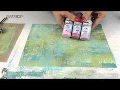 Fresco Chalk Acrylic Brayer Backgrounds 2 - YouTube