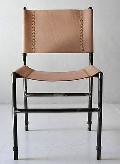 Sonora leather and iron dining chair by CASA MIDY
