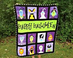 Jane's Fabrics and Quilts...Isn't this quilt great?  What a fun quilt to hand for all the kids to see when they come Trick or Treating.
