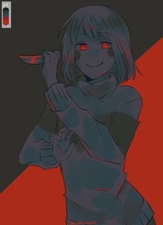 said: Can I request a genocide Chara with palette Answer: Uhuuhhuhu Anime Undertale, Undertale Drawings, Undertale Cute, Frisk, Little Misfortune, Sans Cute, Gothic Anime, Anime Gifts, Drawing Expressions